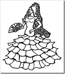 Dibujos para colorear de Andaluc a